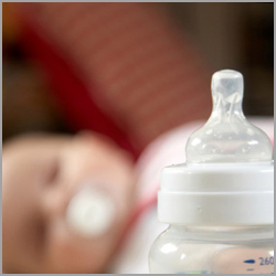 BPA is contained in some baby bottles and sippy cups.